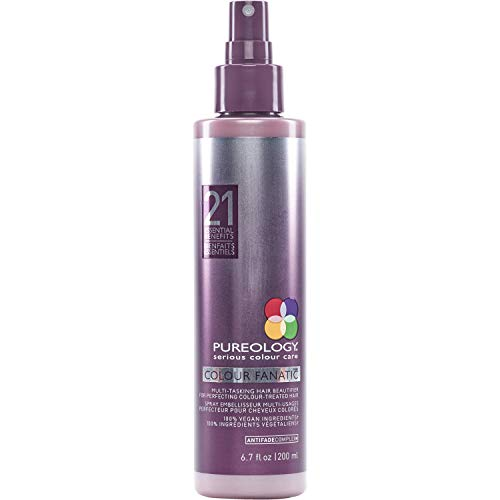 Pureology Colour Fanatic Leave-in Conditioner Hair Treatment Detangling Spray | Protects Hair Color From Fading | Heat Protectant | Vegan | 6.7 oz.