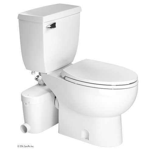 Saniflo Rear Spigot Toilet with Macerating Pump