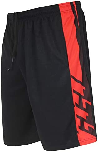 Real Essentials Men's Active Athletic Performance Shorts with Pockets - 5 Pack 5