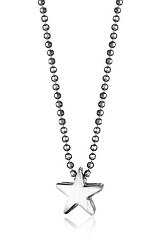 312XpNh1bkL Necklace featuring bead chain with petite sterling silver star pendant Lobster-claw clasp Domestic