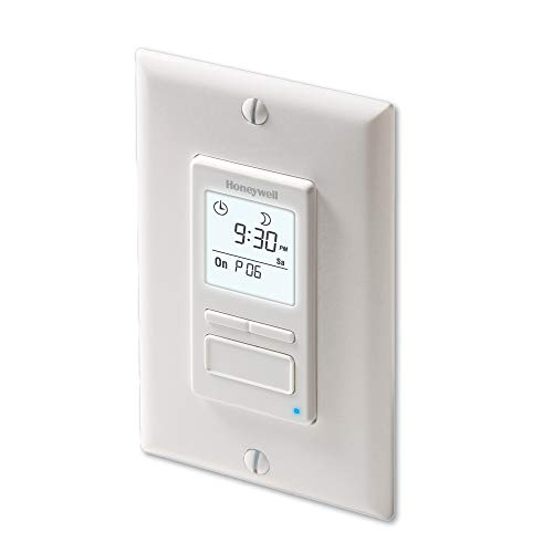 Honeywell Home RPLS740B1008 Econoswitch 7-Day Programmable Light Switch...