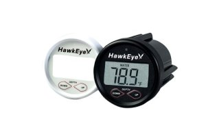 HawkEye D10DX.01T In-Dash Depth Sounder with Air and Water Temperature (Includes Airmar Transom Mount Transducer)