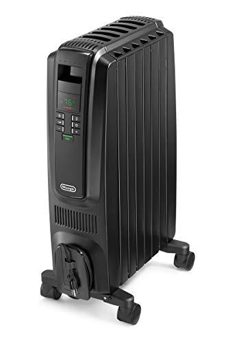 DeLonghi TRD40615EBK Dragon Digital Radiant Heater, Rooms up to 250 sq. ft, Black