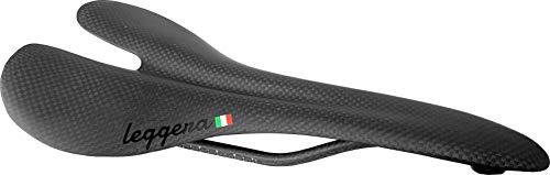 leggera Carbon Fiber Road Bike Saddle 90g, Rated for 100kg (3K Carbon Weave)