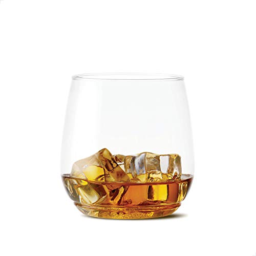 TOSSWARE-POP-12oz-Tumbler-Jr-Recyclable-Crystal-Clear-Unbreakable-Plastic-Whiskey-Glasses-SET-OF-48