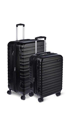 AmazonBasics Hardside Spinner Luggage - 2 Piece Set (20', 28'), Black