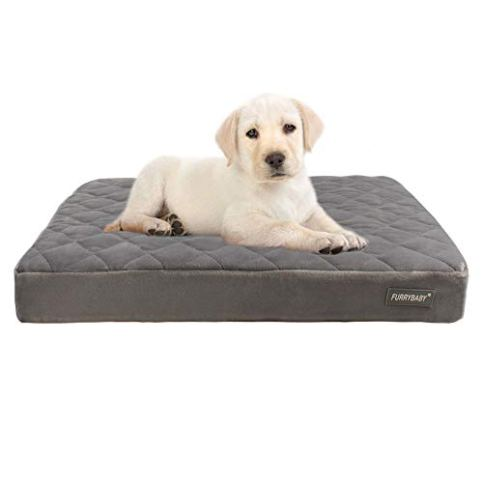 furrybaby-Premium-Orthopedic-Memory-Form-Dog-Bed-with-Waterproof-Internal-Liner-and-Removable-Microfiber-Cover-24x18x24