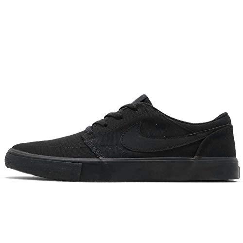 Nike Men's SB Portmore II Solar Skate Shoe Black/Black 11 M US