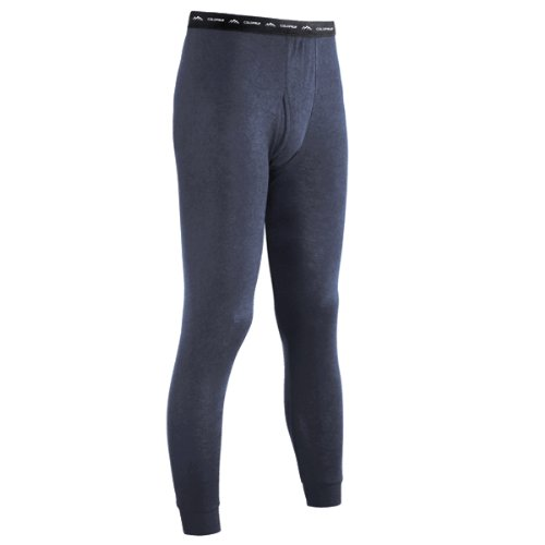 ColdPruf Men's Authentic Dual Layer Wool Plus Base Layer Bottom, Navy, Large