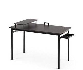 Zinus Port Computer Desk / Workstation in Espresso, Small