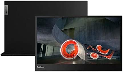 "Lenovo ThinkVision M14 14"" Full HD 1920x1080 IPS Monitor - 300 Nit 6ms 2xUSB Type-C Ports Widescreen Backlit LED LCD Mobile Portable Display Raven Black 15"