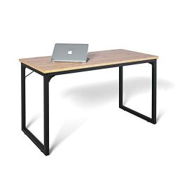 Coleshome Computer Desk 39″, Modern Simple Style Desk for Home Office, Sturdy Writing Desk,Walnut