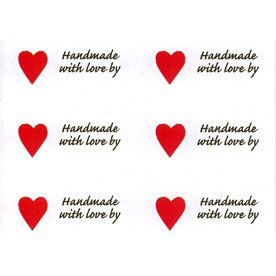 Download Heart Shape 'Handmade with Love by' labels: Amazon.co.uk ...