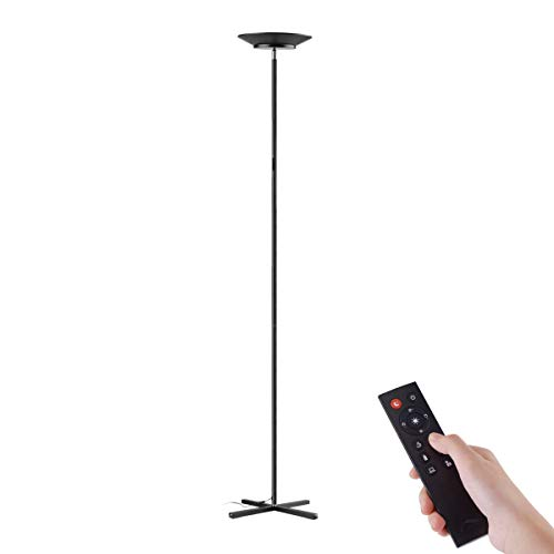 Floor Lamps, Joly Joy 30W LED Torchiere Super Bright Floor Lamp, Dimmable LED Floor Light with Remote Control and Touch Control, Standing Lamp with Stepless Dimmer for Living Room, Office and Bedroom
