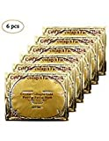 Rotus 6PCS 24K Gold Gel Collagen Crystal Facial Masks Sheet Patch For Anti Aging, Whitening, Puffiness, Anti Wrinkle, Moisturizing, Deep Tissue Rejuvenation and Hydrates Skin