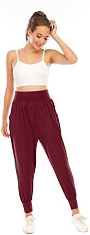 Zamowoty Womens Workout Sweatpants High Waist Yoga Joggers Running Pants Pajama Lounge Pants with Pockets 7