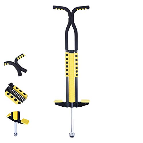 jujunshangmao Pogo Stick for Kids Boys & Girls Ages 8 & Up, 50 to 130 Lbs - Awesome Fun Quality Pogo Stick for Boys & Girls (Yellow) (Yellow)
