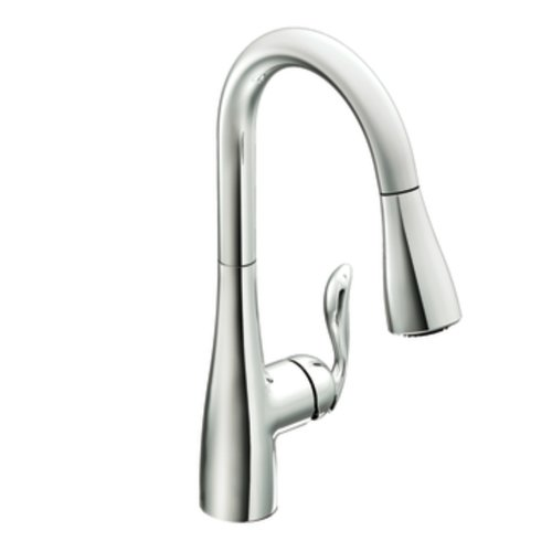 Moen 7594C Arbor One-Handle Pulldown Kitchen Faucet Featuring Power Boost and Reflex, Chrome [Standard]