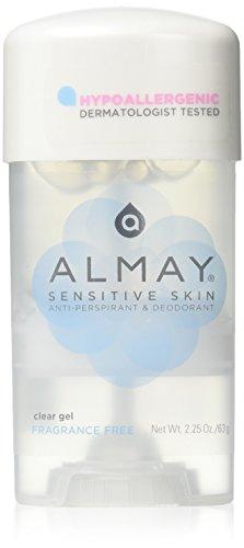 Almay Sensitive Skin Clear Gel, Anti-Perspirant & Deodorant, Fragrance Free, 2.25-Oz