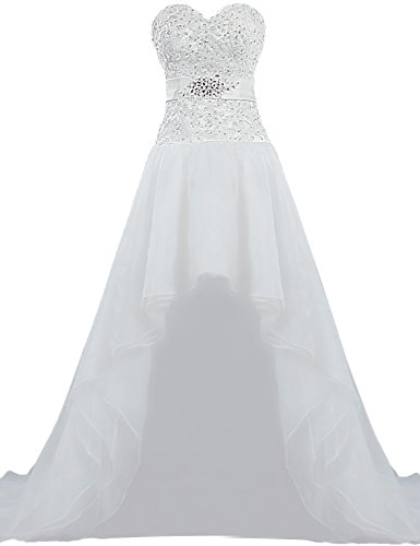 316i5nET8IL Front short back long wedding gown for bride High quality lace and organza,excellent handwork Full Lined with bone, Inner Pad, Dry Clean Only.