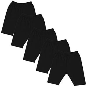 GOODTRY Girls Cotton Cycling Shorts Pack of 5 Black 23  GOODTRY Girls Cotton Cycling Shorts Pack of 5 Black 316l3GYC23L
