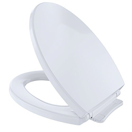 Toto SS114 01 SoftClose Elongated Toilet Seat Cover, Cotton...