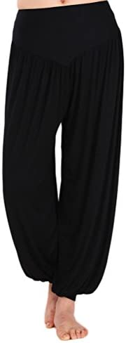 AvaCostume Womens Modal Cotton Soft Yoga Sports Dance Harem Pants 1