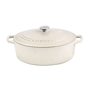 Cuisinart Oval Casserole, Matte Snow White, 7 Qt 1