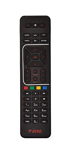 Airtel Digital Universal DTH Remote with SD and HD Recording (Black) 187