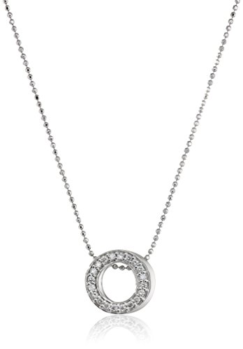"""3187o1uFA2L 16"""" Length 14kt Yellow Gold necklace featuring a circle- shape pendant Solid matte finished, eco-friendly 14kt Gold and has our signature beveled edge and stamped for authenticity"""
