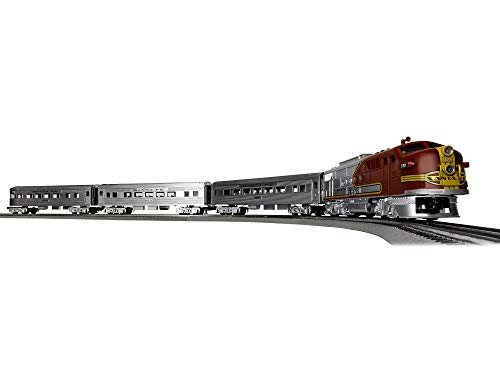 Lionel-Santa-Fe-Super-Chief-Electric-O-Gauge-Model-Train-Set-w-Remote-and-Bluetooth-Capability