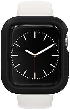RhinoShield Bumper Case kompatibel mit Apple Watch SE & Serie 6/5 / 4 – [44mm] | CrashGuard NX – Stoßabsorbierende Dünn Designte Schutzhülle 1.2M Fallschutz – Schwarz