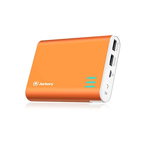 Jackery External Battery Charger Giant+ 12000mAh Dual USB Portable Battery Charger/External Battery Pack/Phone Backup Power Bank with Emergency Flashlight for iPhone, Samsung and Others - Orange