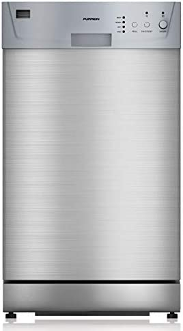 Furrion 18″ Built-In RV Dishwasher with Double Rack (Stainless Steel) – FDW18SAS-SS