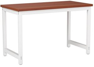 CHEFJOY VD-53853CFHW Computer Desk PC Laptop Table Wood Work-Station Study Home Office Furniture, Coffee