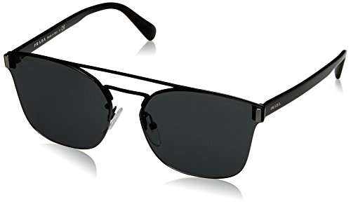 319XKY WDcL Masculine and magnificent!  Project impeccable personality and taste when you wear these Prada™ sunglasses. Strong metal frame and temples. Durable and smooth plastic lenses provide 100% UV protection.