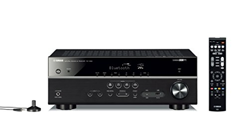 Yamaha RX-V483BL 5.1-Channel 4K Ultra HD MusicCast AV Receiver, Works with Alexa