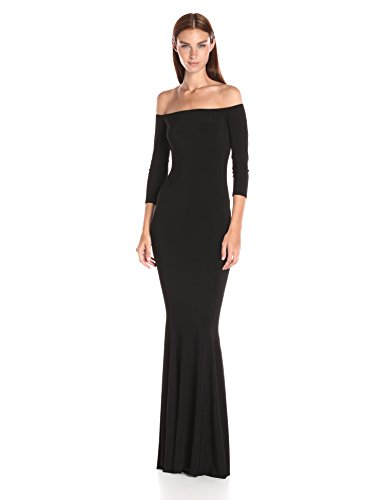 Off shoulder 3/4 sleeve gown Raw edge, can be cut with scissor to shorten length Accentuates all body types