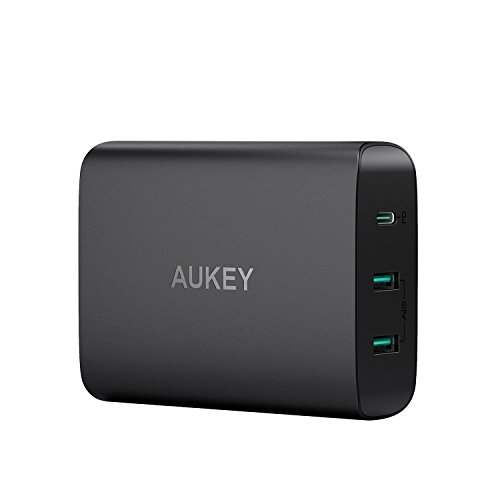AUKEY USB Charging Station, 60W Power Delivery 3.0 & Dual Port USB Charger for MacBook / Pro, Dell XPS, iPhone X / 8 / Plus, Samsung Note8 and More