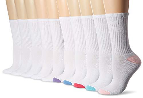 Amazon Essentials Women's 10-Pack Cotton Lightly Cushioned Crew Socks