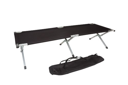 75' Portable Folding Camping Bed & Cot - 260 lbs. Capacity By Trademark Innovations (Black)