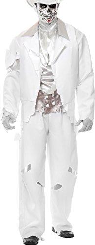 Adult Medium 40-42 White Zombie Prom Ghost Groom Costume