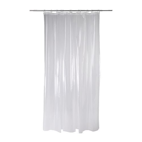 Ikea Nackten shower curtain, transparent clear