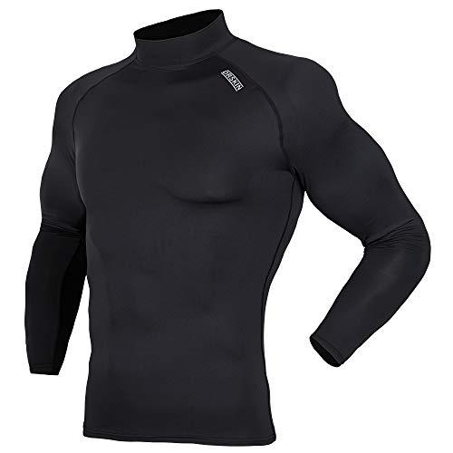 DRSKIN UV Sun Protection Long Sleeve Top Shirts Skins Tee Compression Base Layer (2XL, SABB01)
