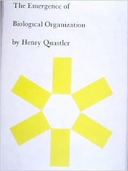 The Emergence of Biological Organization