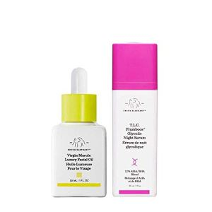 Drunk Elephant Full Sized Night Bright Duo - Nighttime Skin care Routine with T.L.C. Framboos Glycolic Night Serum and… 11