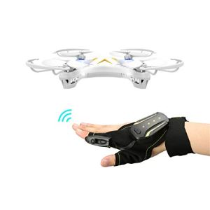 Mini Drone 2.4G 4-Channel Gloves Gesture Sensor Control Interactive Quadcopter Hand Sensor Control RC Helicopter 31BBmqR327L