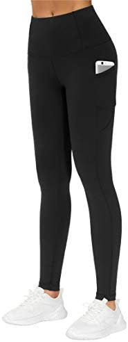 THE GYM PEOPLE Thick High Waist Yoga Pants with Pockets, Tummy Control Workout Running Yoga Leggings for Women 1