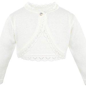 2c2900612 Lilax Little Girls' Knit Long Sleeve Button Closure Bolero Cardigan Shrug