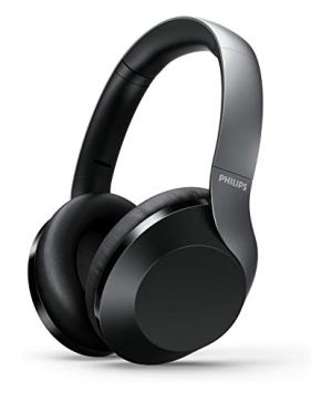 Philips Performance TAPH805BK Hi-Res Over-Ear Active Noise Cancelling Bluetooth Headphones with Google Assistant (Black)